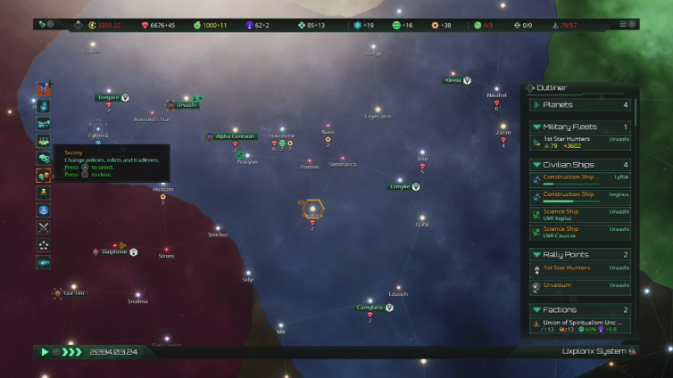 zectra27 playing Stellaris: Console Edition