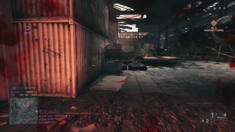 Rusty Alley playing Battlefield 4